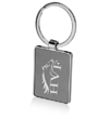 Two Tone Rectangular Metal Keychains