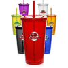 20 oz. Double Wall Acrylic Tumblers With Straws