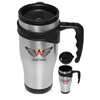 16oz Sporty Stainless Steel Travel Mugs
