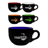 23 oz. Two Tone Soup Mugs with Handles