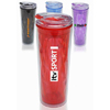 20 oz. Double Wall Travel Mugs with Color Matching Lids