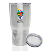 27 oz Stainless Steel Tumblers with Clear Lids