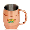14 oz Copper Coated Stainless Steel Moscow Mule Barrel Mugs