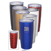16 oz. Putter Finger Grip Stainless Steel Tumblers