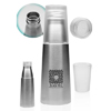 17 oz Stainless Steel Water Bottle with Cup