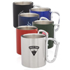 10 oz. Carabiner Handle Stainless Steel Mugs