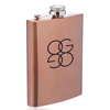 8 oz. Copper Coated Gran Torino Hip Flasks