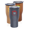 28 oz. Challenger Travel Mugs with Wood Finish