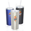 16 oz. Mira Stainless Steel Tumblers with Straw