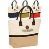 Two-Tone Jute Beach Tote Bags