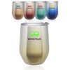11 oz. Ombre Stemless Wine Glasses with Lid