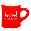 10 oz. Red Ceramic Diner Mugs