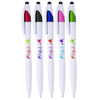 Isla White Twist Barrel Stylus Pens